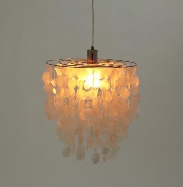 natural capiz shells pendant lighting beach style. Black Bedroom Furniture Sets. Home Design Ideas