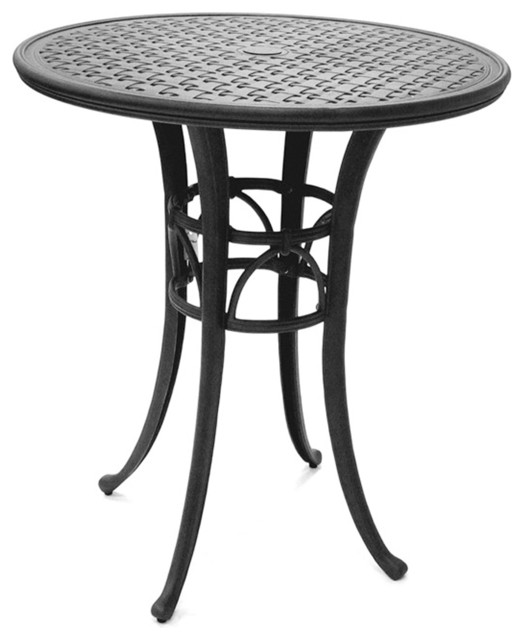 pastel magnolia pub table w 42 inch round cast aluminum top contemporary dining tables by. Black Bedroom Furniture Sets. Home Design Ideas