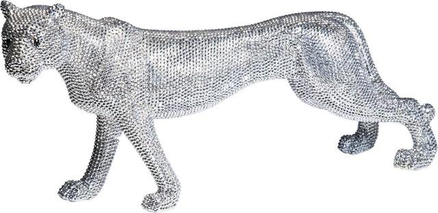 Deko figur leopard glitter 29cm modern dekofiguren for Dekofiguren modern