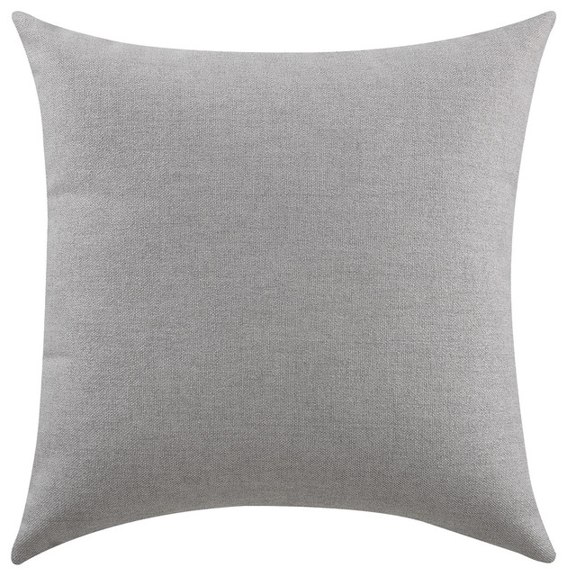 Solid Gray Pillow, Set of Two - Decorative Pillows - by Coaster Fine Furniture