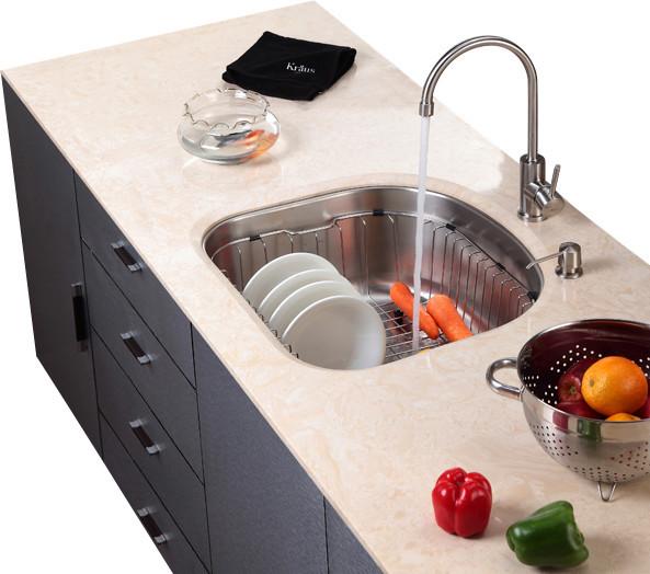 Kraus Stainless Steel Rinse Basket - Modern - Kitchen Sink Accessories ...