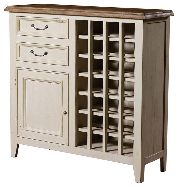 Cottage Wine Cabinet-White - Beach Style - Wine And Bar Cabinets - new ...