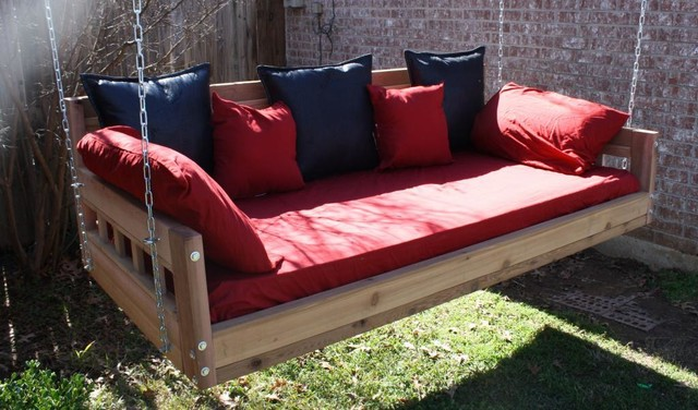 American Style Swinging Daybed Modern Patio Furniture