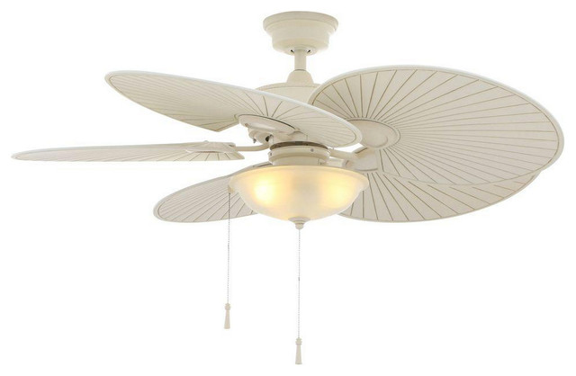 48 Vintage White Outdoor Ceiling Fan Beach Style