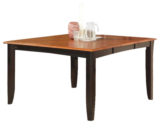 Parfait Square Table With 18 Butterfly Leaf Black Cherry Finish Dining Tables By