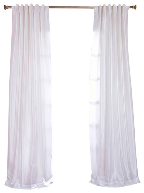 ice vintage textured faux dupioni silk curtain single