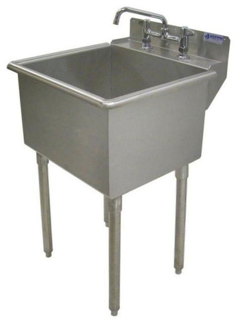 lt series stainless steel freestanding 3 hole laundry sink