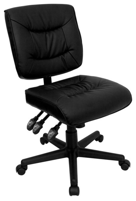 black leather multi function task chair contemporary office chairs
