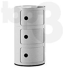 Top3 by design kartell anna castelli ferrieri componibili 2h black fixed moderne table - Table de nuit kartell ...