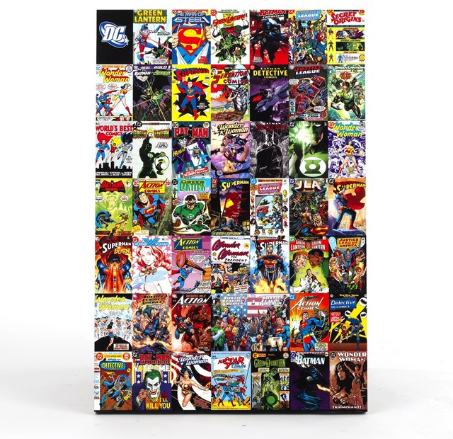 comics montage d 39 images de comics 61x91cm contemporain imprim et poster par alin a. Black Bedroom Furniture Sets. Home Design Ideas