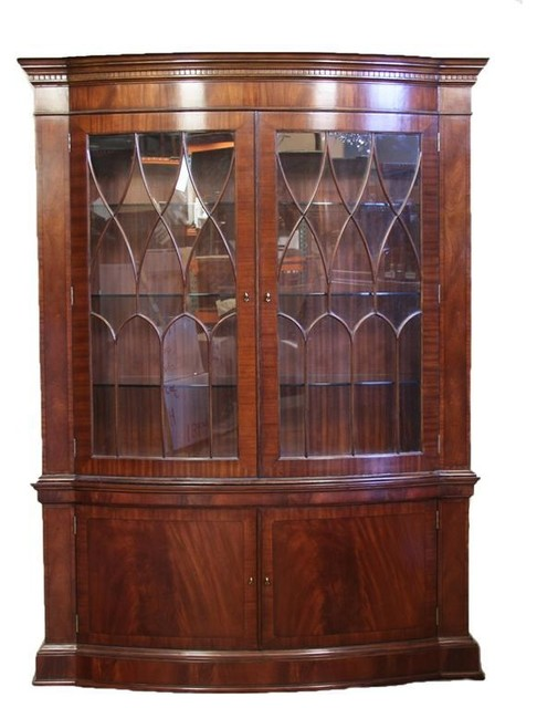 Bow Front China, High End China Cabinet, Mahogany Display Case - Traditional - China Cabinets ...