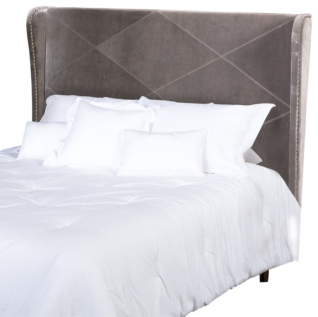 Anson king california king wingback headboard gray California king headboard