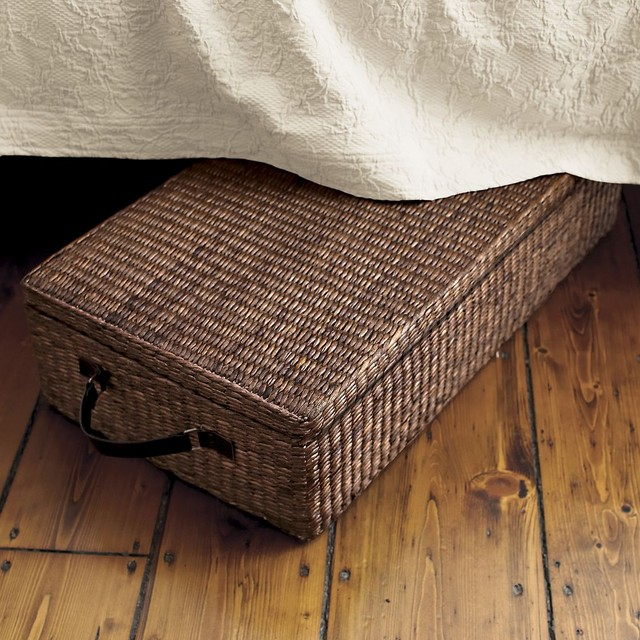 wicker under bed storage with wheels 1