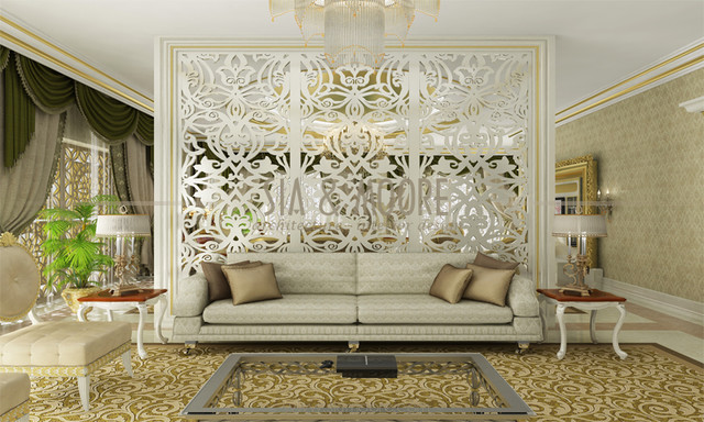 Doha mansion 1 qatar traditional living room other for Interior design qatar