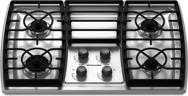 Kitchenaid 30 Inch 4 Burner Gas Cooktop Contemporary