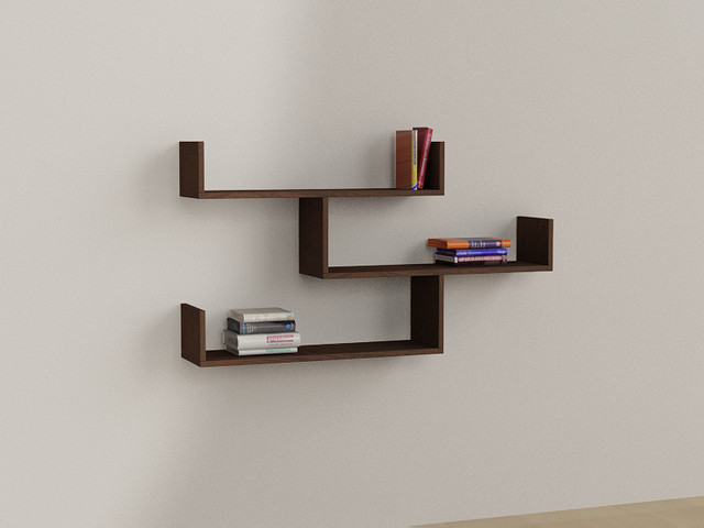 tibet wall shelf bookcase by matte wenge contemporain tag re et vitrine other metro. Black Bedroom Furniture Sets. Home Design Ideas