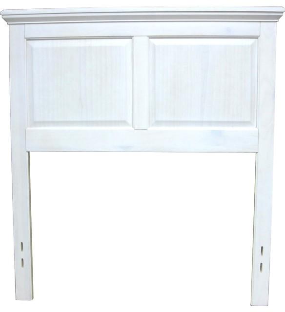 white wood twin headboard 2