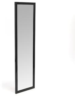 chipi miroir plat rectangulaire noir contemporain miroir poser au sol par alin a. Black Bedroom Furniture Sets. Home Design Ideas