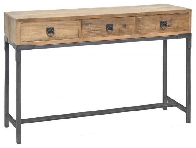 Baylor 3 drawer console table modern side tables and - Contemporary console tables with drawers ...