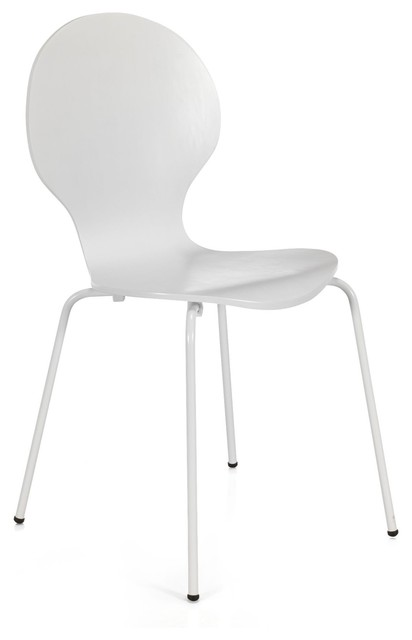 Maddy chaise blanche r tro contemporary dining chairs by alin a mobilie - Chaise a bascule blanche ...