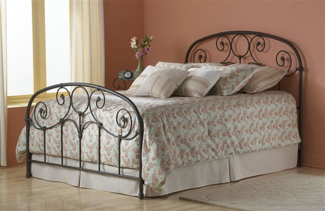 Edsel Queen Size Iron Bed Frame Copper Gold