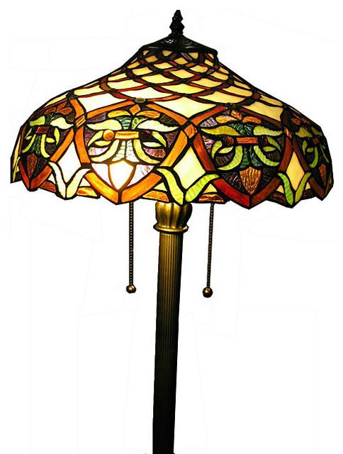 tiffany style ariel floor lamp traditional floor lamps. Black Bedroom Furniture Sets. Home Design Ideas