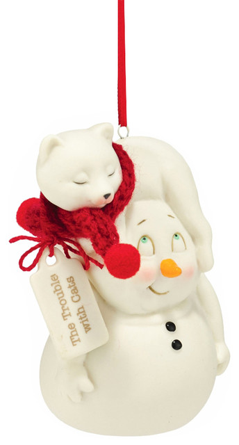 Department 56 snowpinions the trouble with cats ornament for Decoration 56