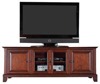 Crosley Furniture Newport 60 Inch Low Profile TV Stand in Vintage ...
