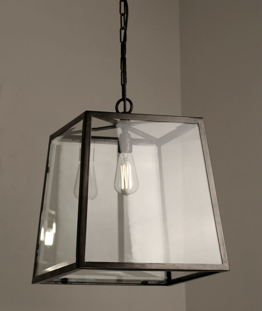 The Norfolk Collection Large Tapered Box Lantern Traditional Outdoor Hanging Lights