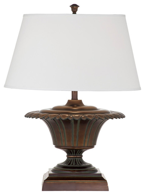 Bassett mirror bergere table lamp antique bronze verde for Table bergere