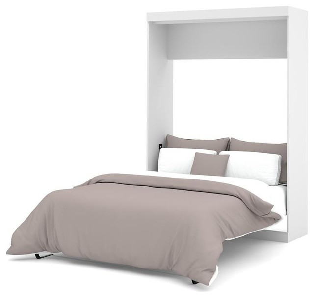 Bestar Nebula Full Wall Bed White Contemporary Murphy