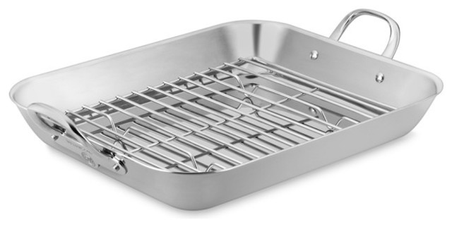 Thermo Clad Stainless Steel Flared Roaster With Rack