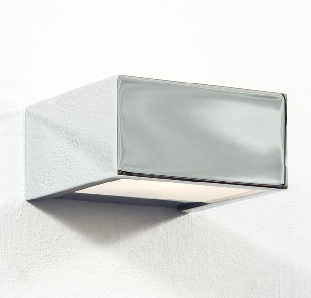 box wandleuchte chrom bauhaus look wandleuchten von. Black Bedroom Furniture Sets. Home Design Ideas