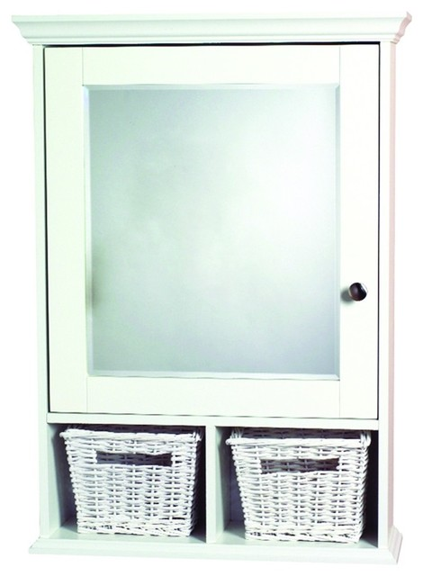 ... Medicine Cabinet with Baskets - Traditional - Medicine Cabinets - by