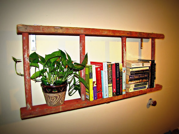 antique ladder bookshelf 2