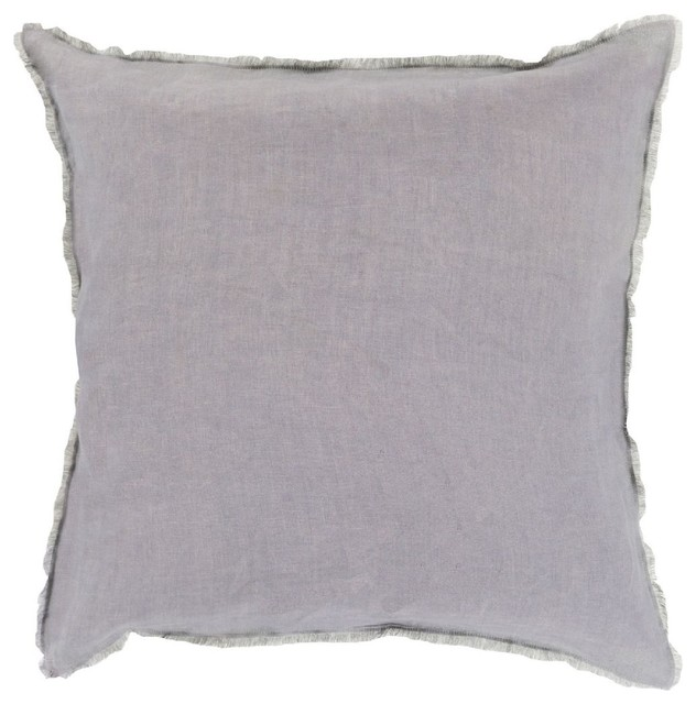 Light Gray Decorative Pillow : Solid/Striped Eyelash Square Light Gray Decorative Pillow - Modern - Decorative Pillows - by RugPal