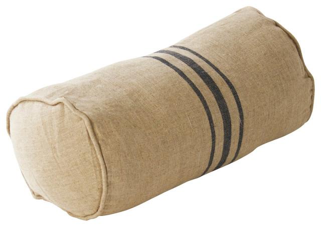 Round Blue Decorative Pillows : Blue Stripe Round Pillow - Farmhouse - Decorative Pillows - other metro - by Zentique, Inc.