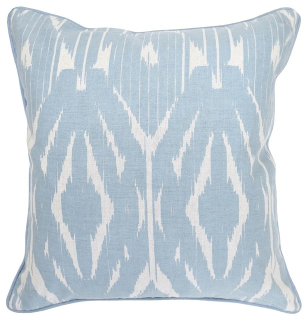 Light Blue Silk Throw Pillow : Mortko Light Blue Accent Pillow - Decorative Pillows - los angeles - by Living Spaces