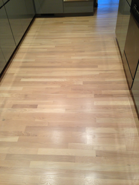Red Oak Plank Floor With White Stain