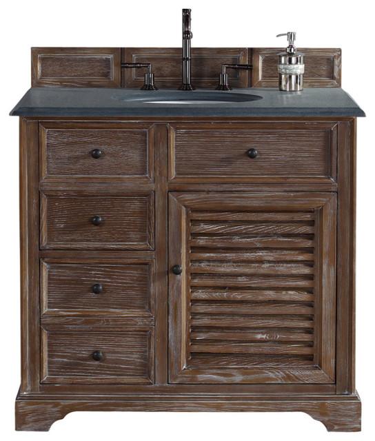 Savannah 36 Vanity Cottage White Rustic Black Granite Top Country