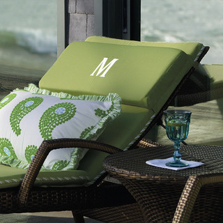 Balencia double strap headrest gingko contemporary for Chaises longues doubles