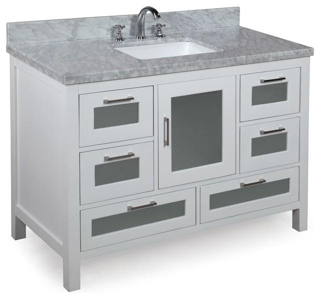manhattan bath vanity white 48 contemporary bathroom vanities and