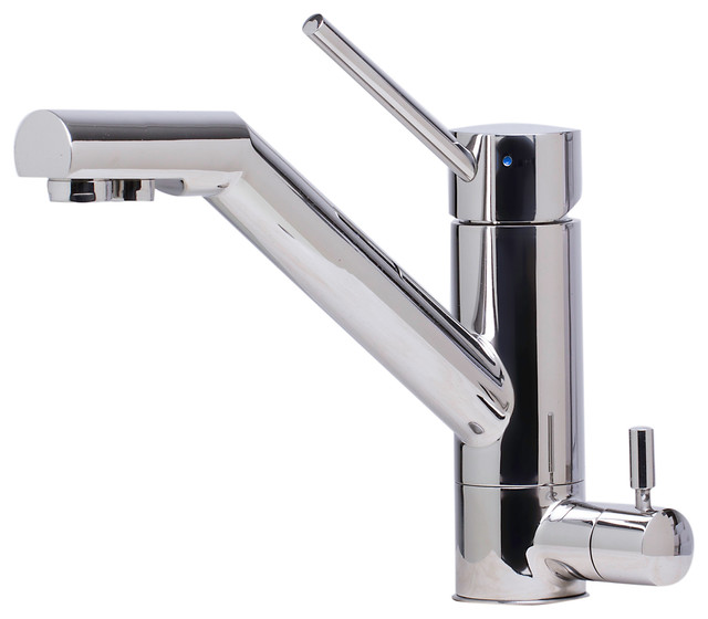 ALFI Solid Polished Stainless Steel Kitchen Faucet Built Water Dispenser