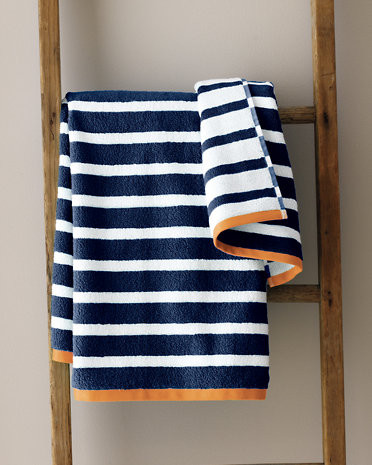 And White Striped Bath Towels Decorative For Bathroom Home Linen Mosaic