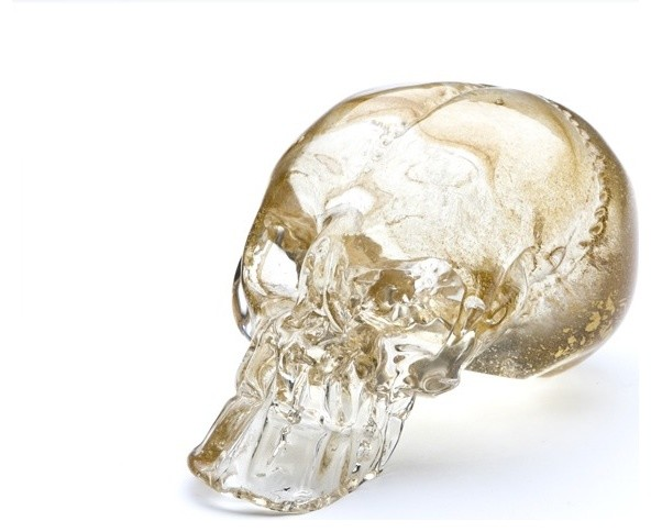guilded skull eclectic home decor by esque studio