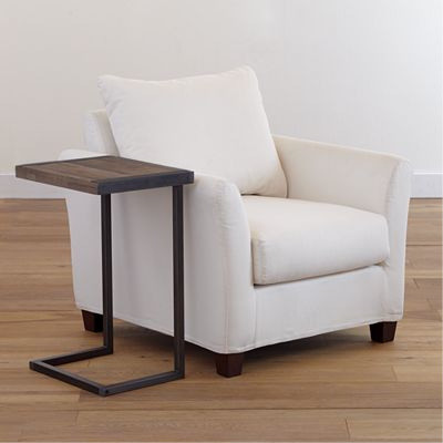 Pinebrook Coffee Table Laptop Table, Metal Edges - Modern - Side Tables And End Tables - by ...