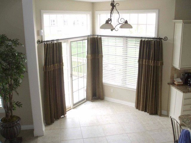 Kitchen window treatments for large windows maumee oh for Drapes for large windows