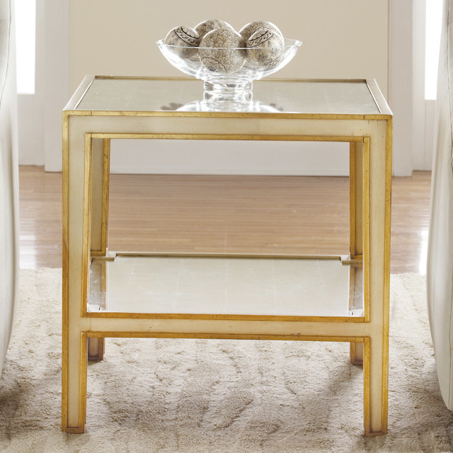 Modern History Home Mirrored End Table Modern Dining