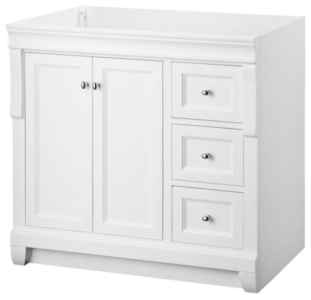 naples vanity cabinet only white 36 39 39 wx21 39 39 d
