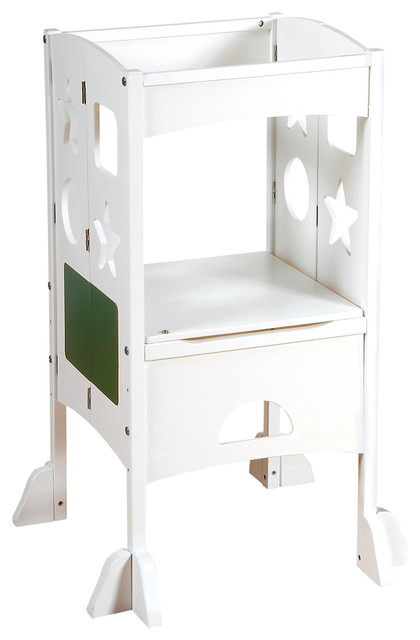 kitchen helper white transitional kids step stools and stools